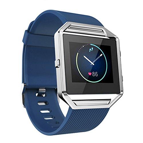 Correa de reemplazo deportiva en silicona para los relojes inteligentes de marca Fitbit Blaze, ajustable a la muñeca