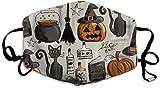 Safety FA-ce de Visage réglable Vintage Halloween - Housse de Visage réutilisable - Cagoule Lavable - pour Femme et Homme