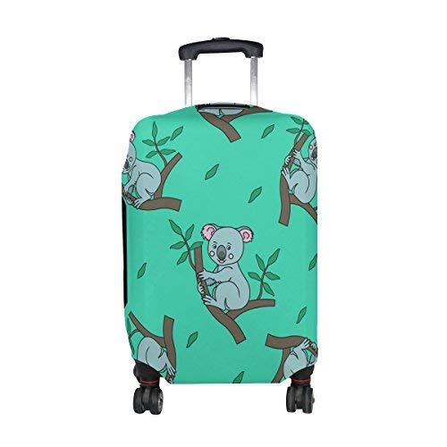 Promini Tropical Cute Koala Travel Luggage Cover Suitcase Protector Washable Baggage Covers Spandex Elastic Dustproof 18-32 Inch