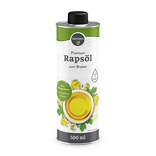 borchers Premium Rapsöl, Feiner Buttergeschmack, Reich an Omega-3-Fettsäuren, zum Braten und...