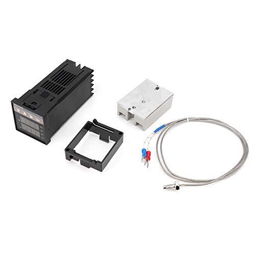 Controlador de temperatura Kit-PID REX-C100 Controlador de temperatura + Relé de estado sólido 40A + Termopar K GD
