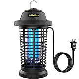 Hemiua Electric Bug Zapper, Mosquito Zapper for Outdoor, Insect Killer, Waterproof Fly Pest Trap for Patio