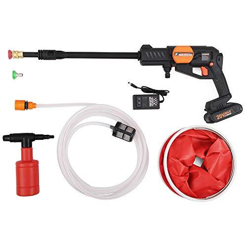 HUAHE Hydroshot Portable Power Cleaner 20V 2.0Ah High Pressure Washer Gun Sets Cordless - 363-580 psi Working Pressure...