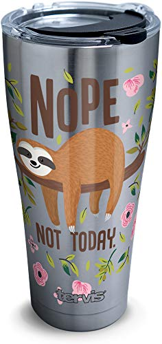 Nope Not Today Sloth Tumbler