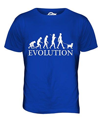 Candymix Belgische Zwerggriffons Evolution des Menschen Und Hund Herren T Shirt, Größe 5X-Large, Farbe Königsblau