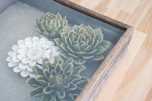 BarnwoodUSA Farmhouse - Marco rústico de caja que crea un efecto de sombra–madera regenerada 100% reciclada