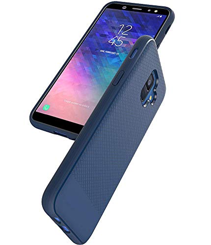 Asmart Galaxy A6 Case, Samsung Galaxy A6 Case, Resilient Shock Absorption Galaxy A6 Phone Case Slim TPU Bumper Cover Flexible Protective Phone Case for Samsung Galaxy A6 2018 (Blue)