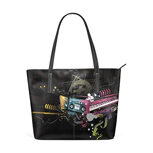 jhin Piano With Audio Tape Womens Purse PU Leather Shoulder Tote Bag Umhängetasche Backpack Ladies Travel Shopping Bags