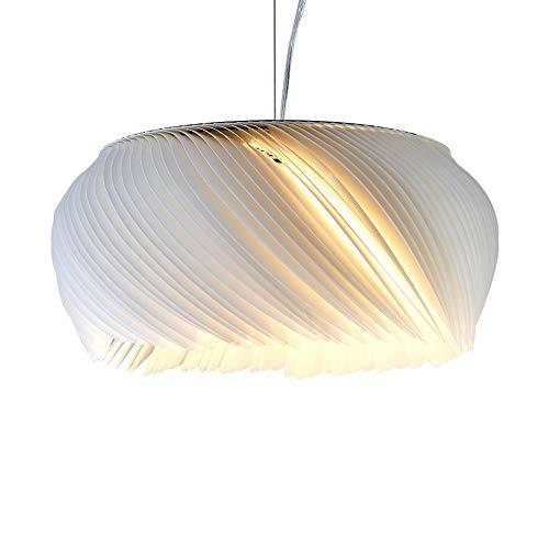 GFFTYX Araña de Origami Blanca - Araña de Dormitorio de Restaurante de Personalidad Creativa posmoderna, Fuente de luz E27, Cable Colgante de 50 cm Ajustable Luces de Techo (Size : 40cm in Diameter)