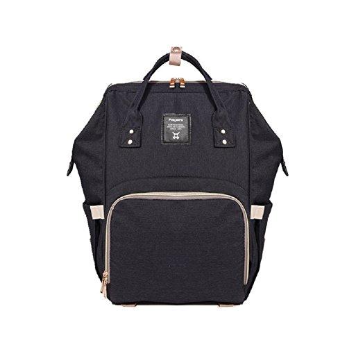 TOYIS Wickeltasche Baby Rucksack Multi-Funktions-wasserdichte Reiserucksack Tote Windelbeutel für Baby Care, große Kapazität, stilvoll und langlebig, Mom-Tasche (Black)