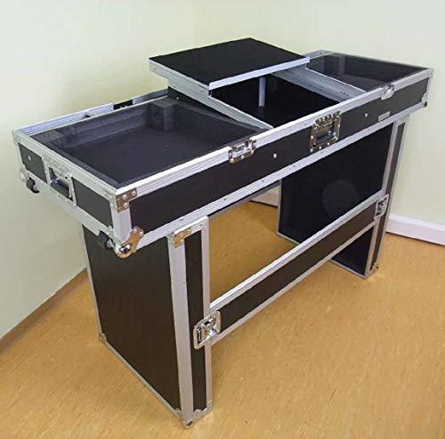 """TEGO PRO 27200 Konsole Road TISCH mit Laptopablage für 2 Plattenspieler, 19"""" Mischpult und Laptop - Case Mobile Digital DJ Desk Flightcase"""