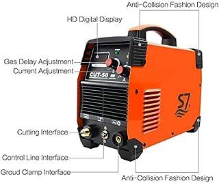 Plasma Cutter, 50A Inverter AC-DC IGBT Dual Voltage (110/220V) Cut50 Portable Cutting Welding Machine With Intelligent Digital Display Easy Cutter Welder(Orange)