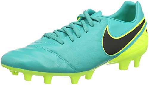 Nike Tiempo Mystic V FG Scarpe da calcio per terreni duri, Uomo, Verde (Giada trasparente/Giallo paglierino/Nero), 40