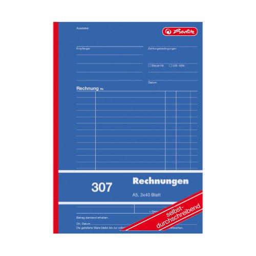 Herlitz 888545 Rechnungs-Buch A5 307 3x40 Blatt selbstdurchschreibend