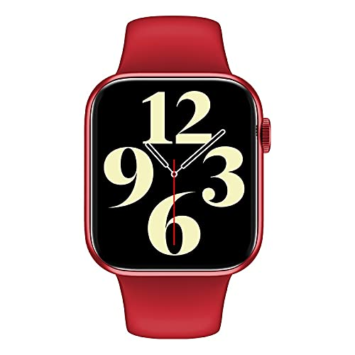Smart Watch, 1.72Inch 44mm Series6 Pantalla Completa Bluetooth Call Music Control Play Play Women Sport Smartwatch para iOS Android (Color : Red)