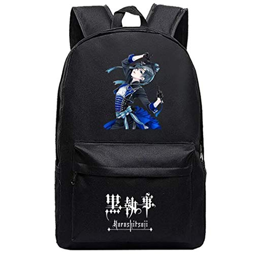Cosstars Black Butler Anime Cosplay Daypack Casual Backpack Day Trip Travel Bag Black /5