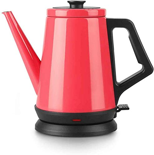 Electric Kettle, 1.2 Litre Cordless Hot Water Dispenser with 1 Cup 300 Second Fast Boil, Red, 1000 W