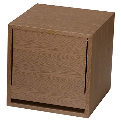 キューブラック ウッドシリーズ 1ヶ入り (コーヒー) 軽量家具ブランドGravif(グラヴィフ) ダンボール製