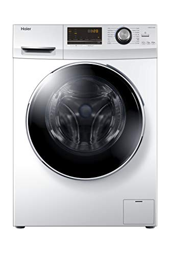 Haier HW90-B14636 Freestanding Washing Machine with LED Display, 9Kg Load, 1400RPM, Direct Motion, White