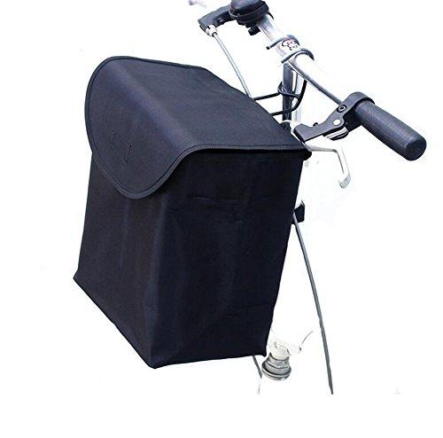 Black Temptation Cesta de la Cesta Plegable de la Bicicleta Cesta Portable para Las Mujeres y los Hombres
