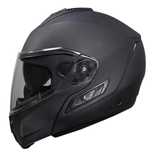 Fulmer Powersports 400 Cruz Vented Motorcycle Modular Helmet - Matte Black (M)