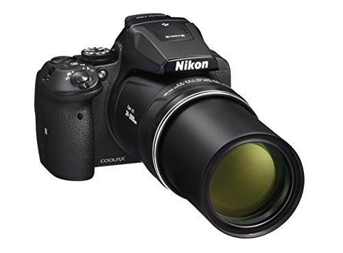 Nikon Coolpix P900 Fotocamera Digitale Compatta, Sensore CMOS 16 Megapixel, Zoom 83X, VR, LCD 3', Full HD, Wi-Fi, GPS, GLONASS, QZSS, Nero [Nital Card: 4 Anni di Garanzia]