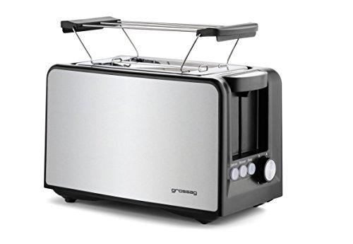 grossag Automatik TA 33.07 Toaster, Plastik, schwarz/edelstahl