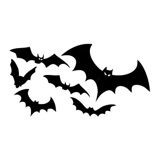 BLOUR 10 * 19CM Herden von Bats Floating Car Stickers Reflektierende Abziehbilder Personalisierte Autoaufkleber Bat CT-766