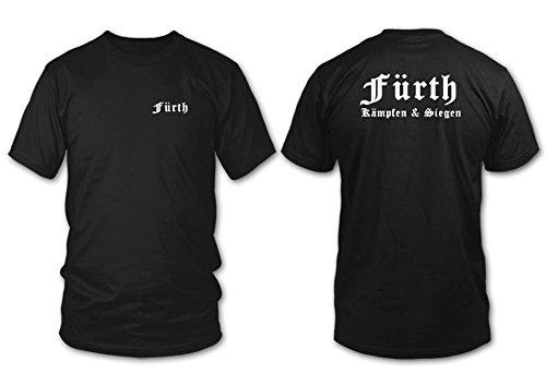 FÜRTH - Kämpfen & Siegen - Fan T-Shirt - Schwarz - Größe XXL