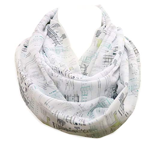 Di Capanni Architecture Infinity Scarf for Architects with Architectural Details White