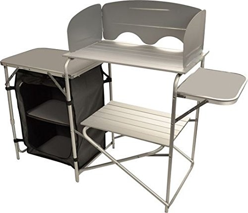Mueble cocina camping con paravientos