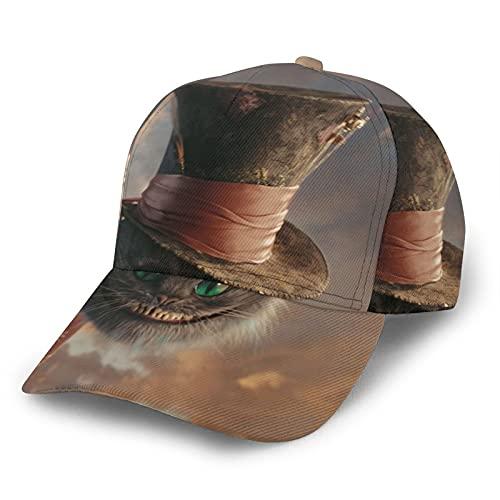 Grinsekatze Modische Baseballkappe mit gebogenem Rand, Sonnenschutz und atmungsaktiv, für Männer und Frauen, Anti-UV