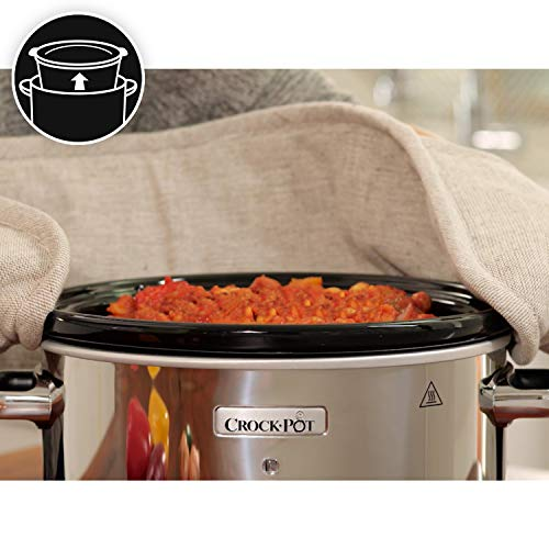 Crock-Pot Slow Cooker | Removable Easy-Clean Ceramic Bowl | 1.8L Small Slow Cooker (Serves 1-2 People) | Black | [CSC080…