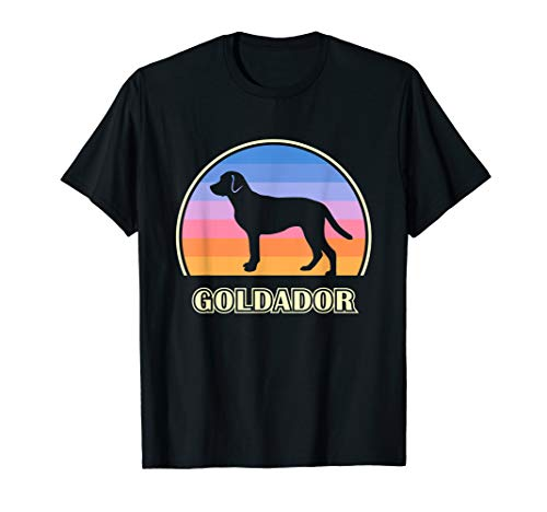Goldador Vintage Sunset Dog T-Shirt
