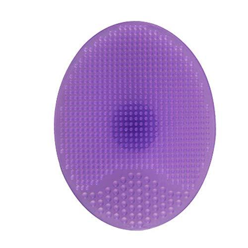 Silicone souple Nettoyant Visage Tapis de bain brosse de lavage des cheveux visage Exfoliant nettoyage Scrubber massage douche éponge exfoliante pour