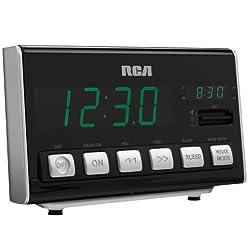 RCA RC10 AM/FM Alarm Clock Radio (Black)