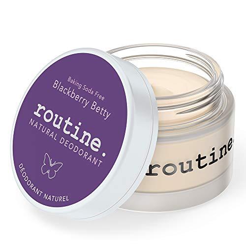 Routine Natural Deodorant Deo Jar | BlackBerry Betty: Baking Soda Free, 58g | Extra Sensitive Skin Formula | Aluminum Free Natural Deodorant for Women & Men