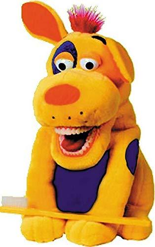 Zahnkönige | Große Plüschtier Handpuppe Puppe Pluto Hund | Mit Riesenzahnbürste & Wasser Spucken | ca. 40-50cm | Zahnarzt Kinder Deko