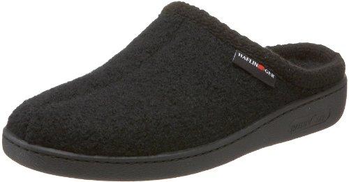 Unisex AT Wool Hard Sole Slippers, Black, 46EU