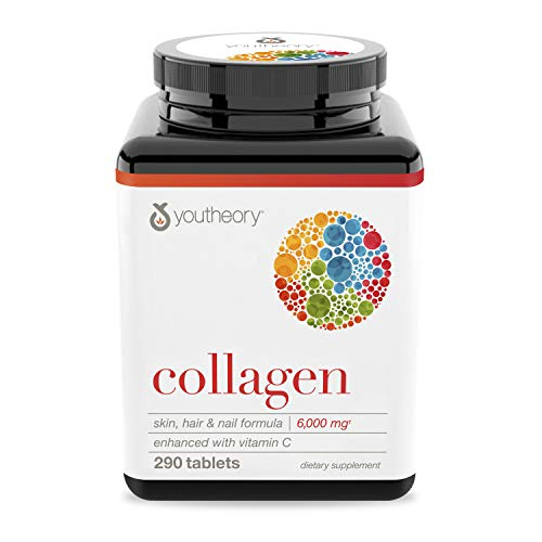 Youtheory | Kollagen mit Vitamin C | Typ 1, 2 & 3 | fortgeschrittene Formel | 18 Aminosäuren | 290 Tabletten