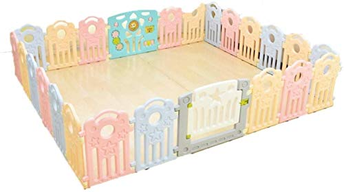 Buy Discount Fence LHY- Huo Playpens Large Baby Plastic,Multicolor Room Divider Child Kids Barrier f...
