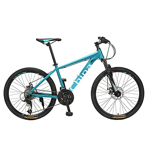 KJWXSGMM 26 Zoll Mountainbike, geeignet ab 150 cm, Scheibenbremse, 27 Gang-Schaltung, Vollfederung, Jungen-Fahrrad & Herren-Fahrrad,B
