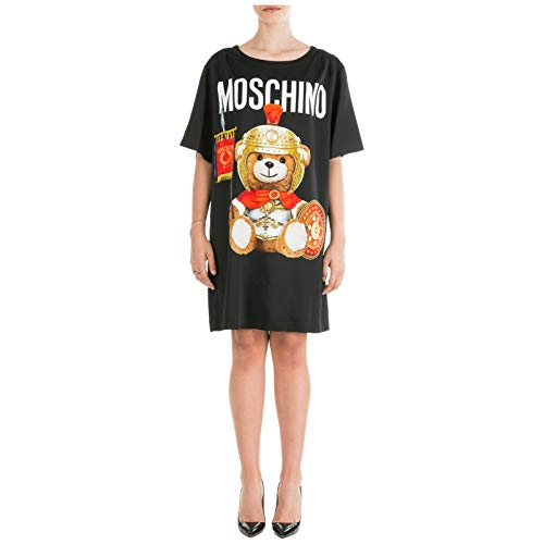 Moschino Damen Minikleid Roman Teddy Bear Nero 42 EU