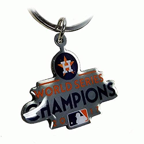 MLB Houston Astros Unisex Metal Logo KEYCHAINMETAL Logo Keychain, Team Color, One Size