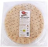 Bases de Pizza SIN GLUTEN de Trigo Sarraceno. 6 bases de pizza de 125g. El Granero. 3 paquetes de 2 pizzas.