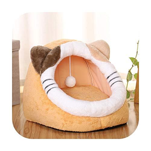 Cama de gato, casa de perro, acogedora y calmante, plegable, carpa de forro polar, para mascotas pequeñas, medianas, lavables, para 3 kg