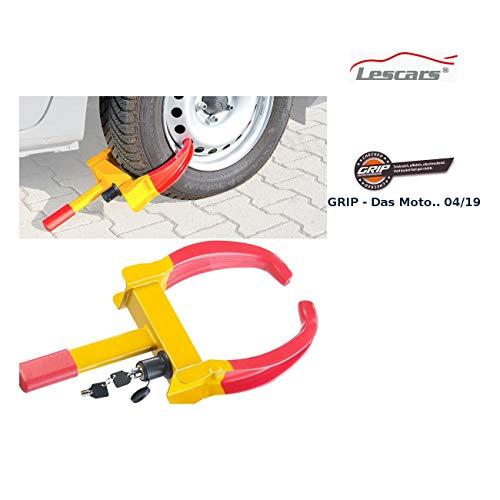 Lescars Parkkralle: Universal-Radkralle zum Fahrzeug-Diebstahlschutz für Reifen bis 265 mm (Autokralle)