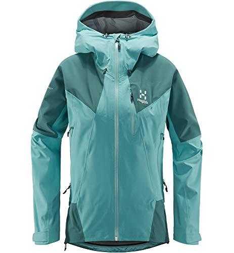 Haglöfs Skijacke Frauen Skijacke L.I.M Touring Proof Wasserdicht, Winddicht, Atmungsaktiv, Kleines Packmaß Glacier Green/Willow Green XS XS - Empty for carryovers -