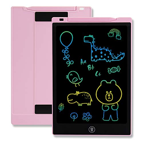 TEKFUN Girls Gifts Toys for 2-6 Year Old Girls, LCD Writing Tablet Toddler Doodle Board, 11inch Colorful Drawing Tablet Writing Pad, Educational and Learning Toy Birthday Gift (Pink)