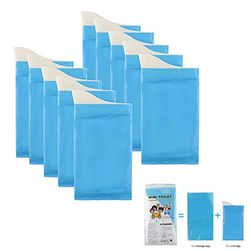 Weiney Disposable Urine Bags Portable Emergency Urine Bags Vomit Bags Suitable for Travel urinals Traffic jams Motion Sickness Seasickness Toilet for Men Women Children 10pcs